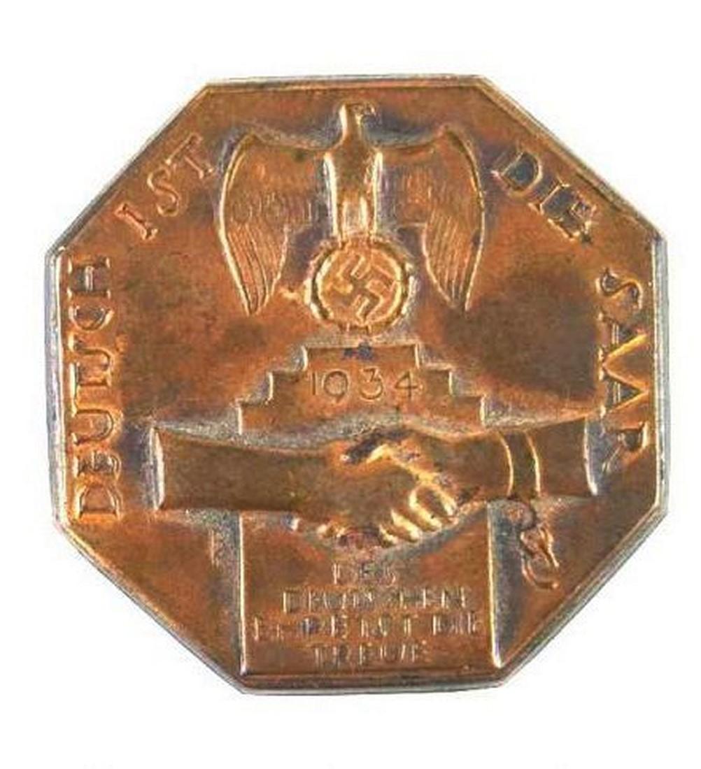 "Insignia ""Deustch ist dir Saar 1934"""